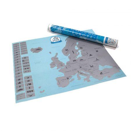 Škrabacia Mapa Európy