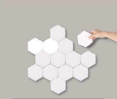 Dotykové Puzzle LED nástenné svietidlo