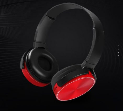 Bluetooth headset  Crispy 450TB - červený
