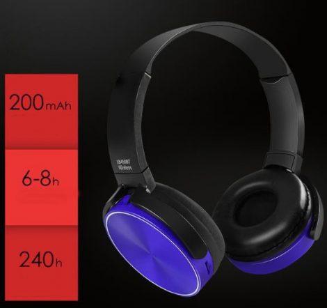 Bluetooth headset Crispy 450TB - modrý
