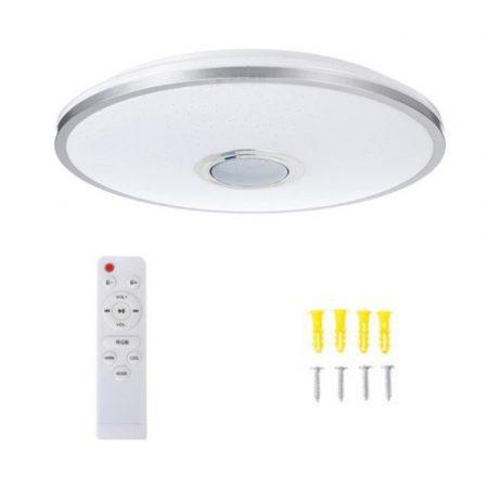 Round stropné svietidlo s reproduktorom a diaľkovým ovládačom