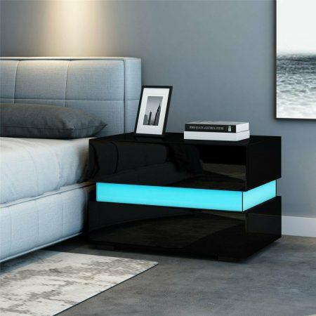 Nočný stolík  Homeland RGB - čierny