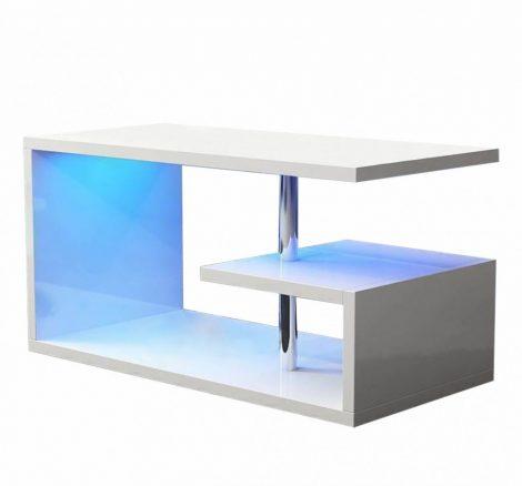 Homeland RGB konferenčný stolík 100 cm, biely s LED osvetlením