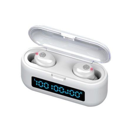 Bluetooth slúchadlá s powerbankou TWS F9 - biele