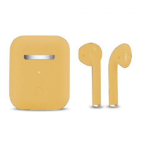 Slúchadlá Inpods 12 Macaron žlté - soft touch ovládanie a matný povrch