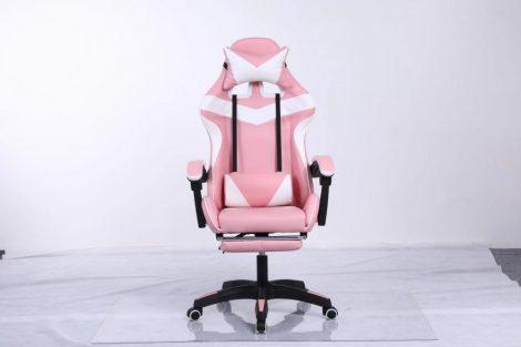 RACING PRO X Gamer kreslo, bielo-ružové