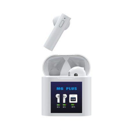 Bluetooth slúchadlá s teplomerom  Air M6 Plus TWS