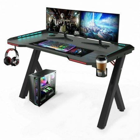 Apollon R5 Herný stôl  140cm*60cm*73cm  led podsvietenie a držiak slúchadiel, nápojov