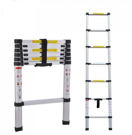Welldone hliníkový teleskopický rebrík 2m