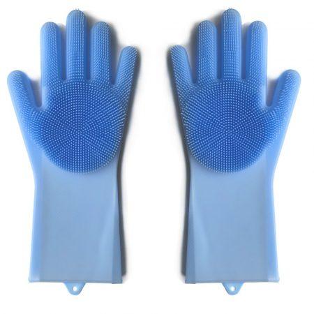 Silikónové rukavice na umývanie riadu