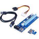 PCI-express x1 - x16 riser  mining/rendering kit