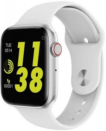 Inteligentné hodinky  Snape W46 - strieborno-biele