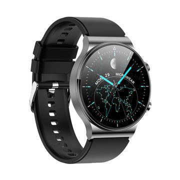 Inteligentné hodinky M2 - čierne so sivým remienkom