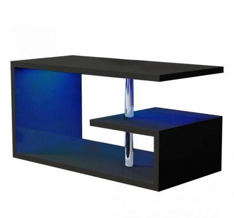 Homeland RGB konferenčný stolík 100 cm, čierny s LED osvetlením